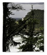 The View Of The Heceta Lighthouse Fleece Blanket