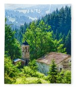 The Village Church - Impressions Of Mountains And Forests Fleece Blanket