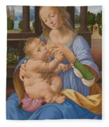 The Virgin And Child Fleece Blanket