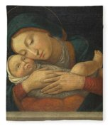 The Virgin And Child With Four Saints Fleece Blanket