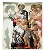 The Virgin And Child With Saint John And Angels Fleece Blanket