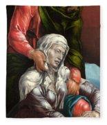The Virgin And Saint John The Evangelist Fleece Blanket