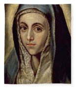 The Virgin Mary Fleece Blanket