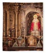 The Virgin Of Hope Fleece Blanket