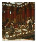 The Visit Of The Queen Of Sheba To King Solomon Fleece Blanket
