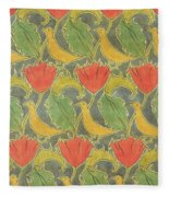 The Voysey Birds Fleece Blanket