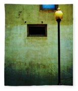 The Wall And The Lamppost Fleece Blanket