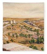 The Walls Of Jerusalem, 1869 Fleece Blanket