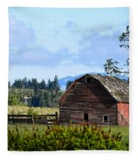 The Warmth Of The Barn Fleece Blanket