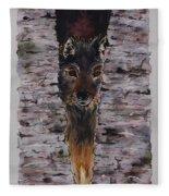 The Watchful Wolf Fleece Blanket