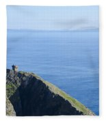 The Watchtower At Slieve League Fleece Blanket
