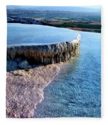 The Water With White Paint Fleece Blanket