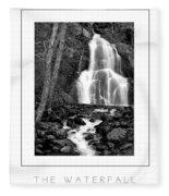 Moss Glen Falls Poster Fleece Blanket