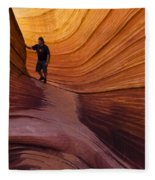 The Wave Beauty Of Sandstone 1 Fleece Blanket