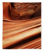 The Wave Layers Of Time Fleece Blanket