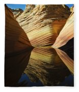 The Wave Reflected Beauty 2 Fleece Blanket