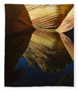 The Wave Reflected Beauty 3 Fleece Blanket