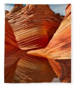 The Wave With Reflection Fleece Blanket