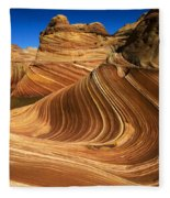 The Wave Wonder In Stone Fleece Blanket