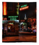 The Waverly Diner And Empire State Building Fleece Blanket