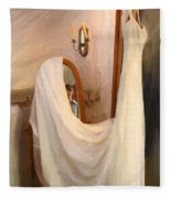 The Wedding Gown Is Ready Fleece Blanket