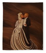 The Wedding Kiss Fleece Blanket