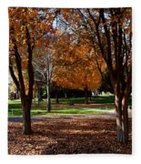 The Well In The Distance-davidson College Fleece Blanket