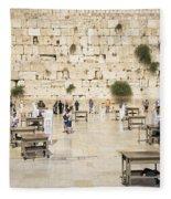 The Western Wall In Jerusalem Israel Fleece Blanket