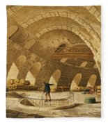 The Wheat Store, Rue De Viarmes, Engraved By I. Hill Coloured Engraving Fleece Blanket