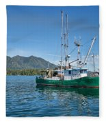 The White Dolphin Fleece Blanket