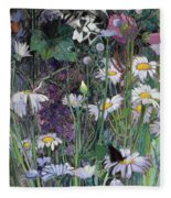The White Garden Fleece Blanket