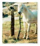 The White Horse Fleece Blanket