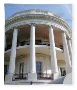 The White House South Portico Fleece Blanket