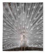 The White Peacock Fleece Blanket