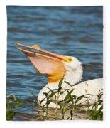 The White Pelican Fleece Blanket