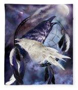The White Raven Fleece Blanket