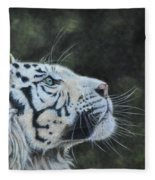The White Tiger And The Butterfly Fleece Blanket