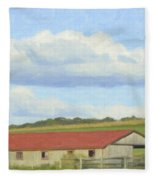 The Whole Farm To Himself Fleece Blanket