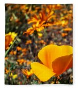 The Wildflowers Are Here And Spring Has Arrived Fleece Blanket