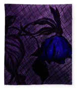 The Wilted Blue Rose Fleece Blanket