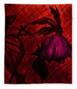 The Wilted Pink Rose Fleece Blanket