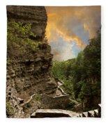 The Winding Trail Fleece Blanket