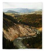 The Winding Yellowstone Fleece Blanket