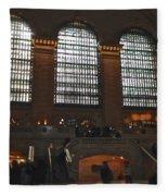 The Windows At Grand Central Terminal Fleece Blanket