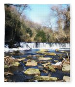 The Wissahickon Creek In February Fleece Blanket