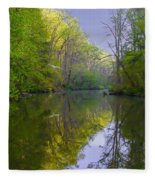 The Wissahickon Creek In The Morning Fleece Blanket