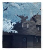The Witch House In Infrared Fleece Blanket