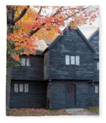 The Witch House Of Salem Fleece Blanket