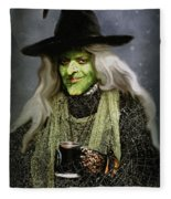 The Witch Of Endor As A Cavalier Fleece Blanket