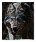 The Wolf Digital Art Fleece Blanket